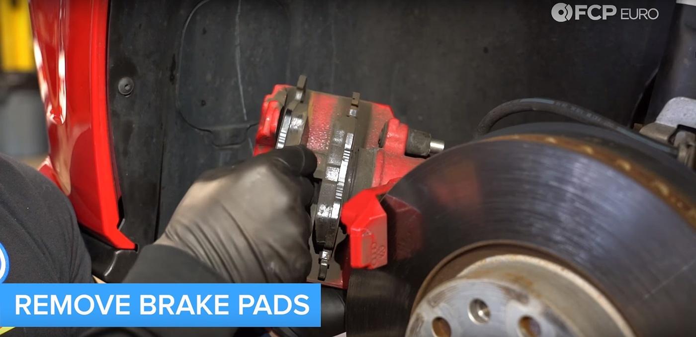 VW Audi Brake Job Caliper and Pad Removal