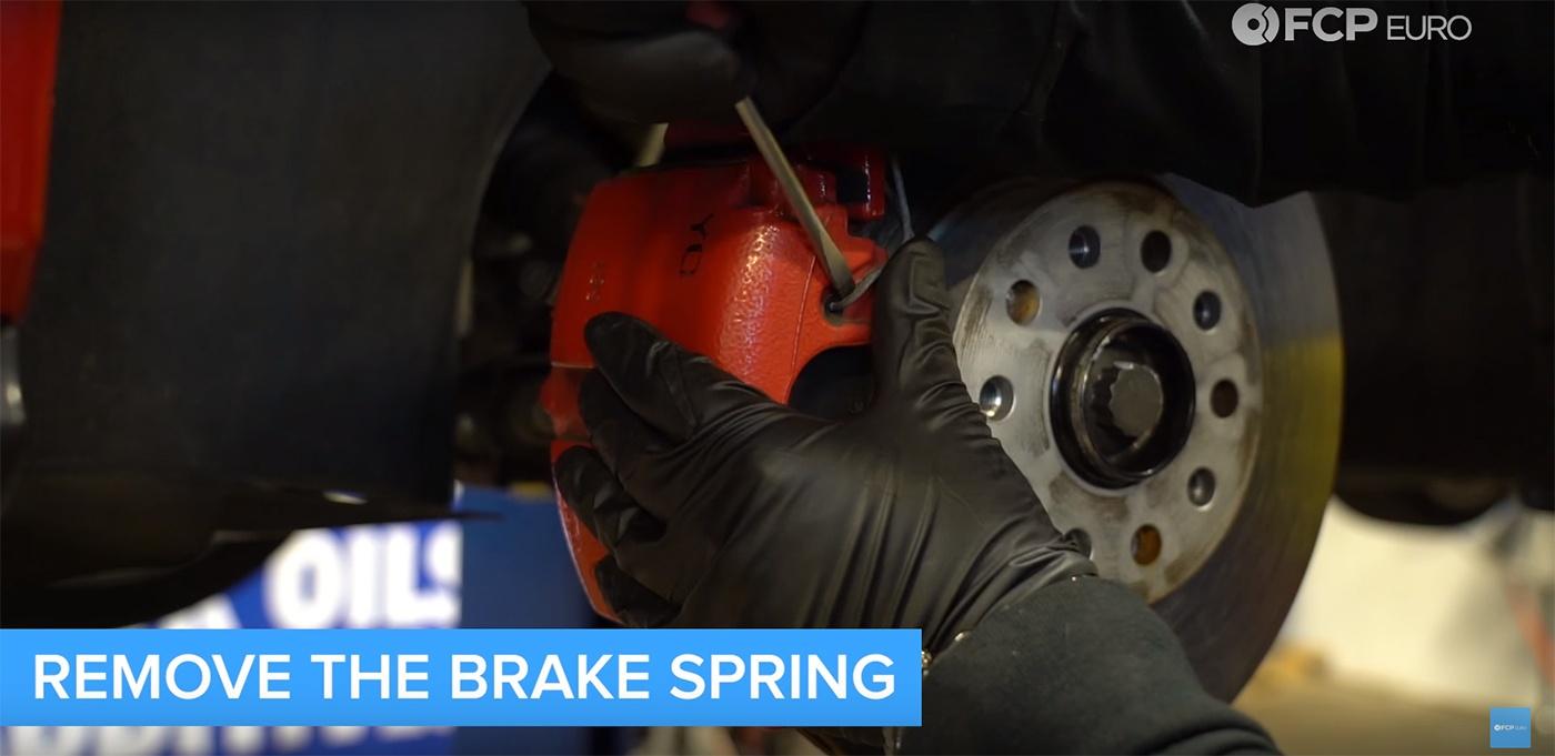 VW Audi Brake Job Spring Removal