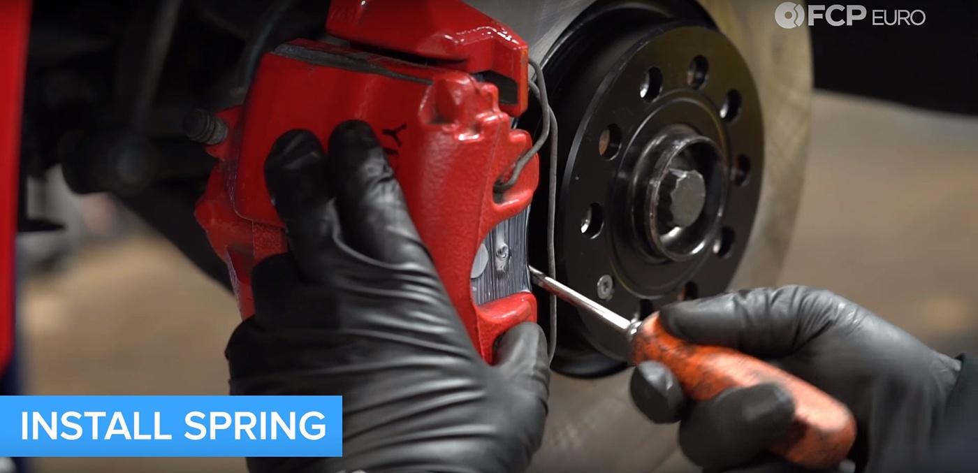 VW Audi Brake Job Anti Rattle Spring Install