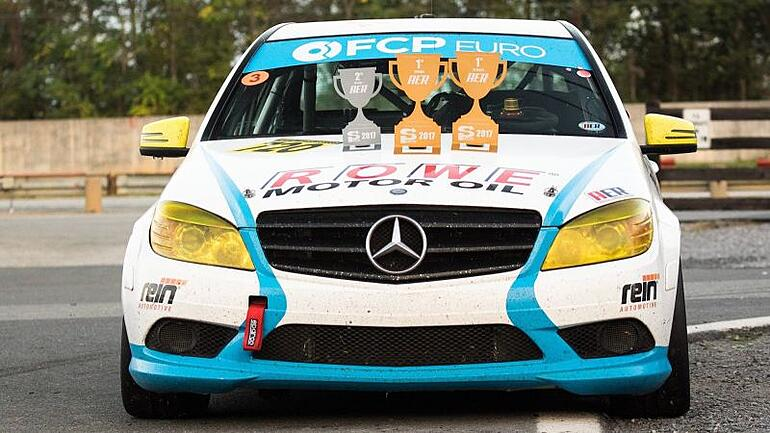 Mercedes C300 at Summit Point Paddock at American Endurance Racing