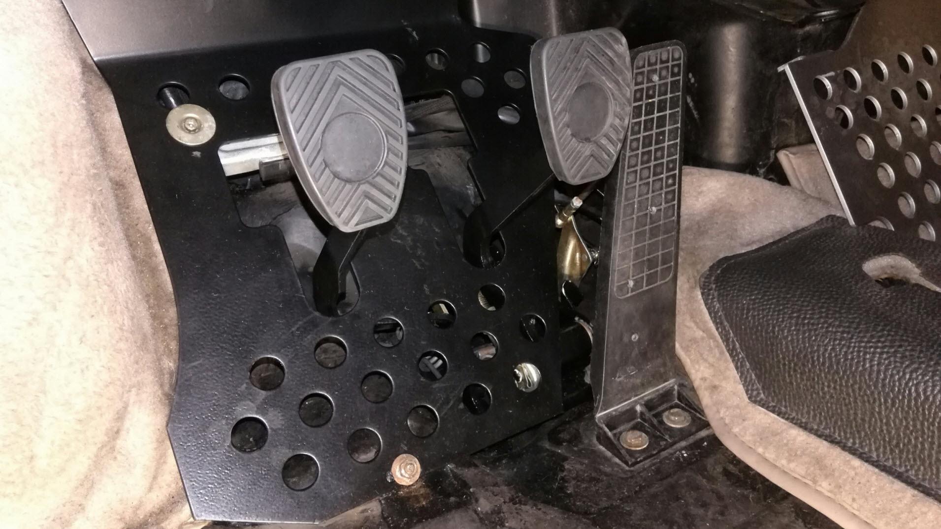 Air-cooled Porsche 911 pedal assembly.