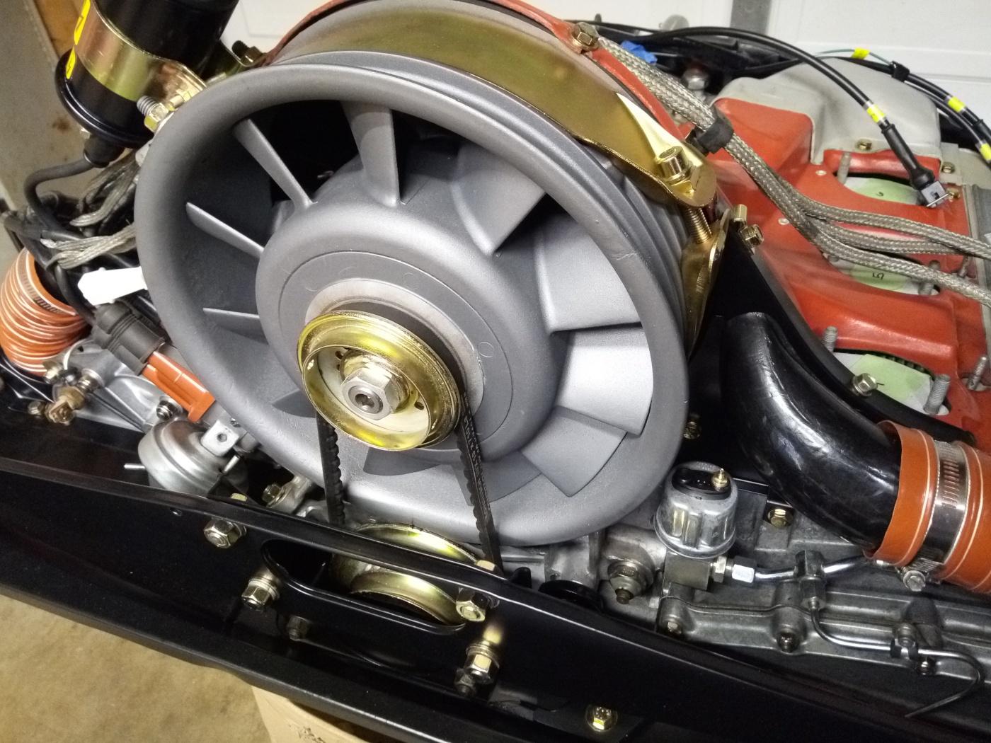 Air-cooled Porsche 911 fan belt assembly