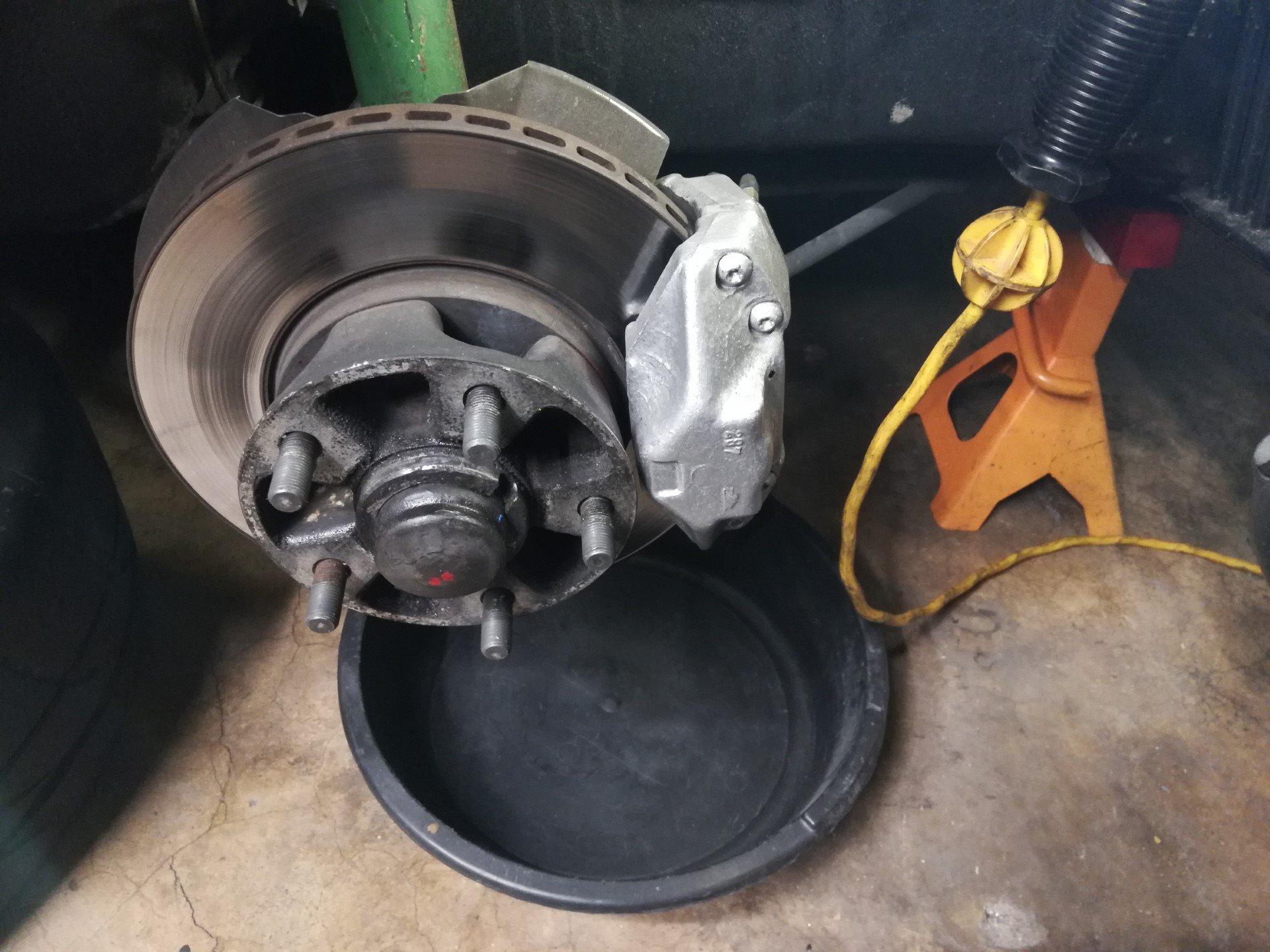 Air-cooled Porsche 911 front brake assembly