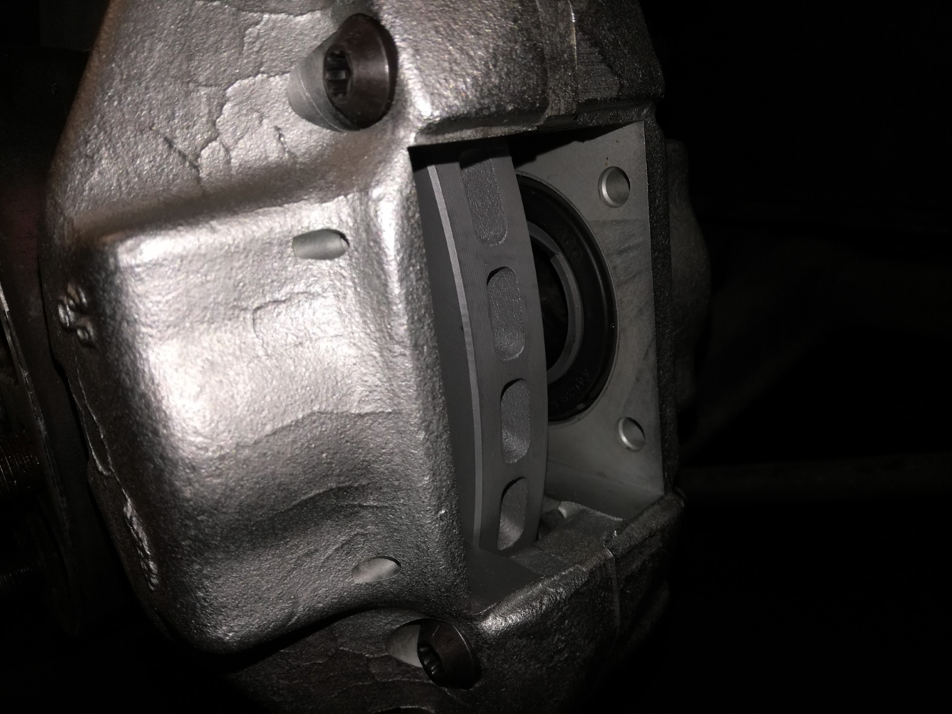 Air-cooled Porsche 911 front caliper replacement