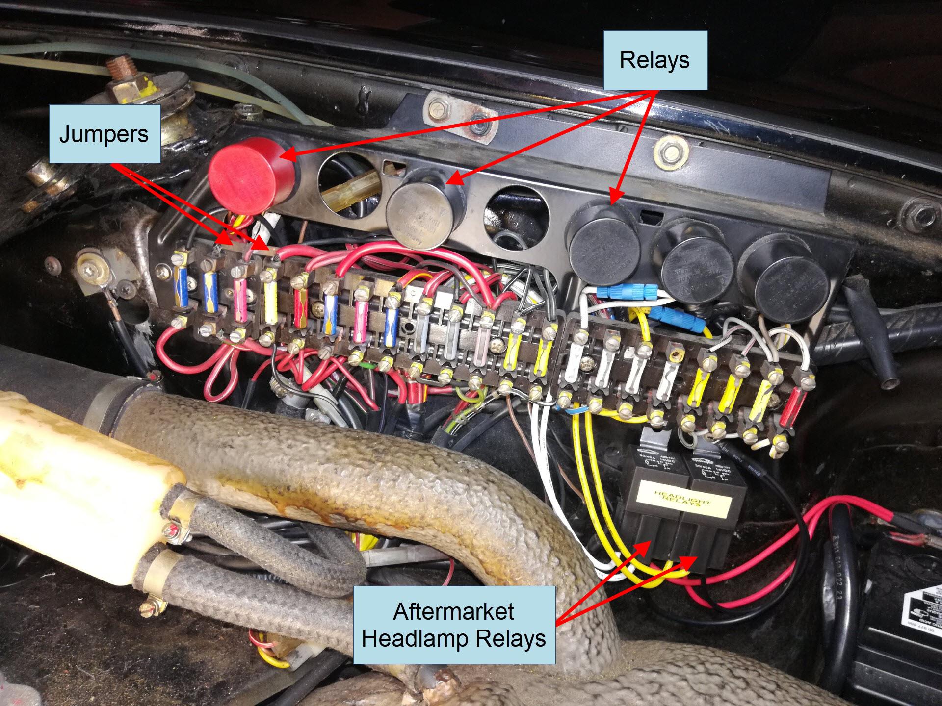 Air-cooled Porsche 911 Fuse Panel