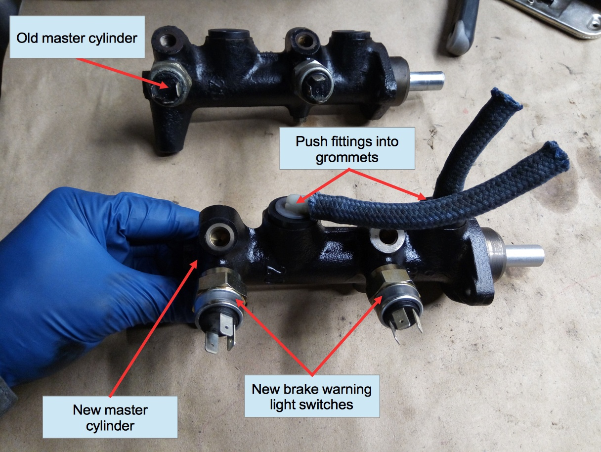 Air-cooled Porsche 911 brake master cylinder.