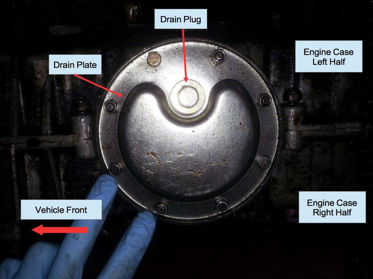 Air-cooled Porsche 911 engine sump drain plate