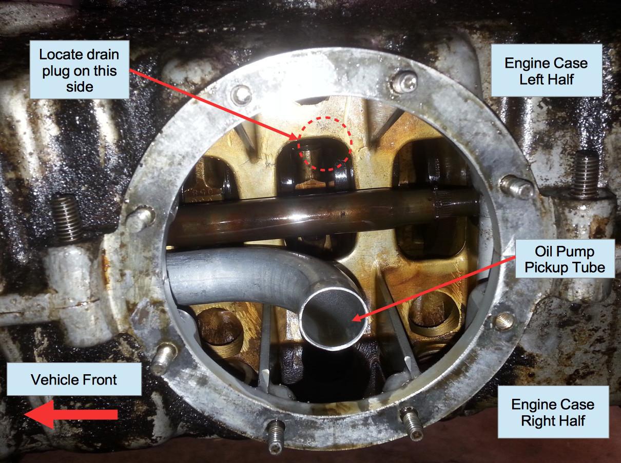 Air-cooled Porsche 911 engine sump oil pump pickup tube