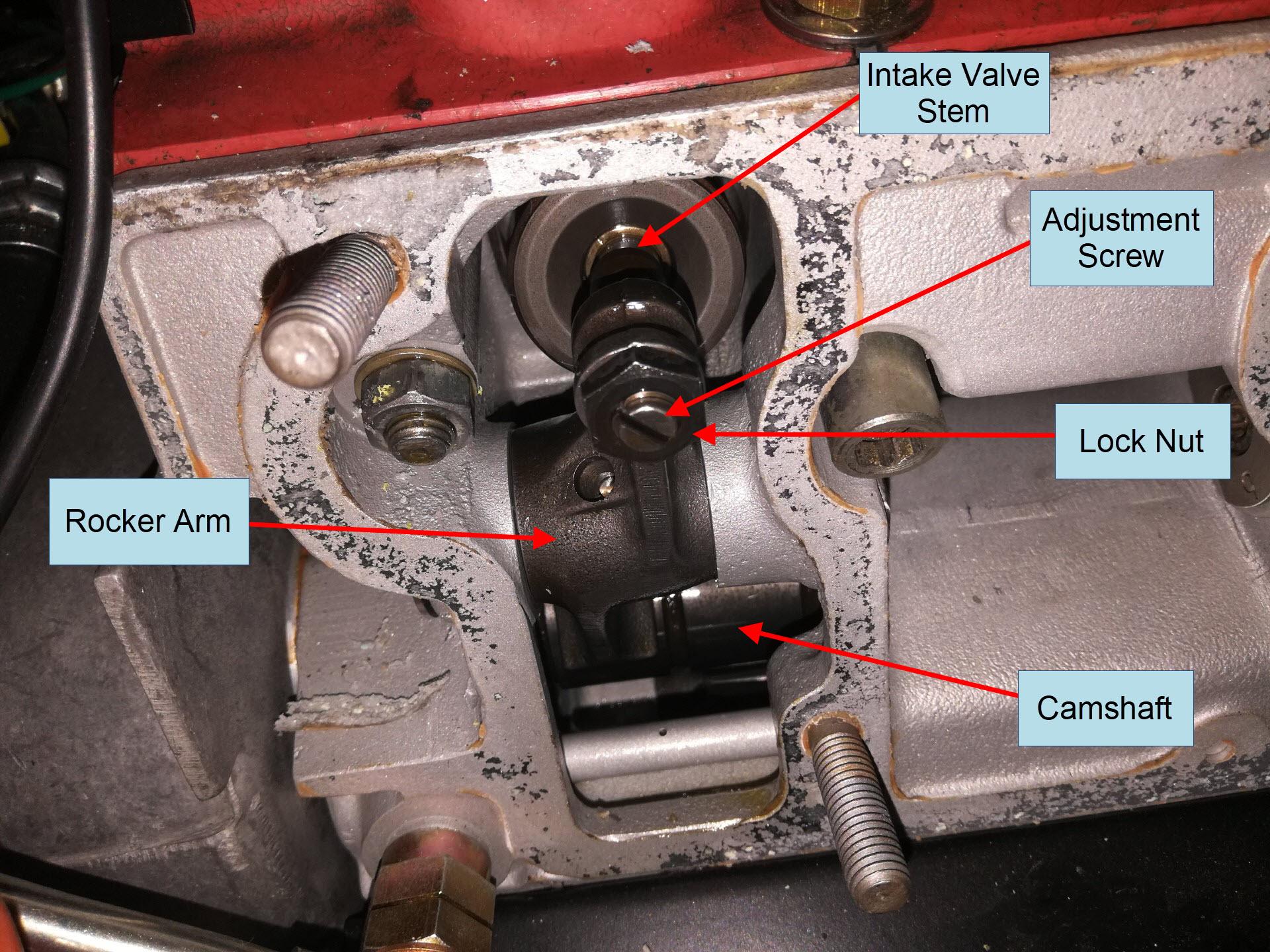 Air-cooled Porsche 911 valve assembly