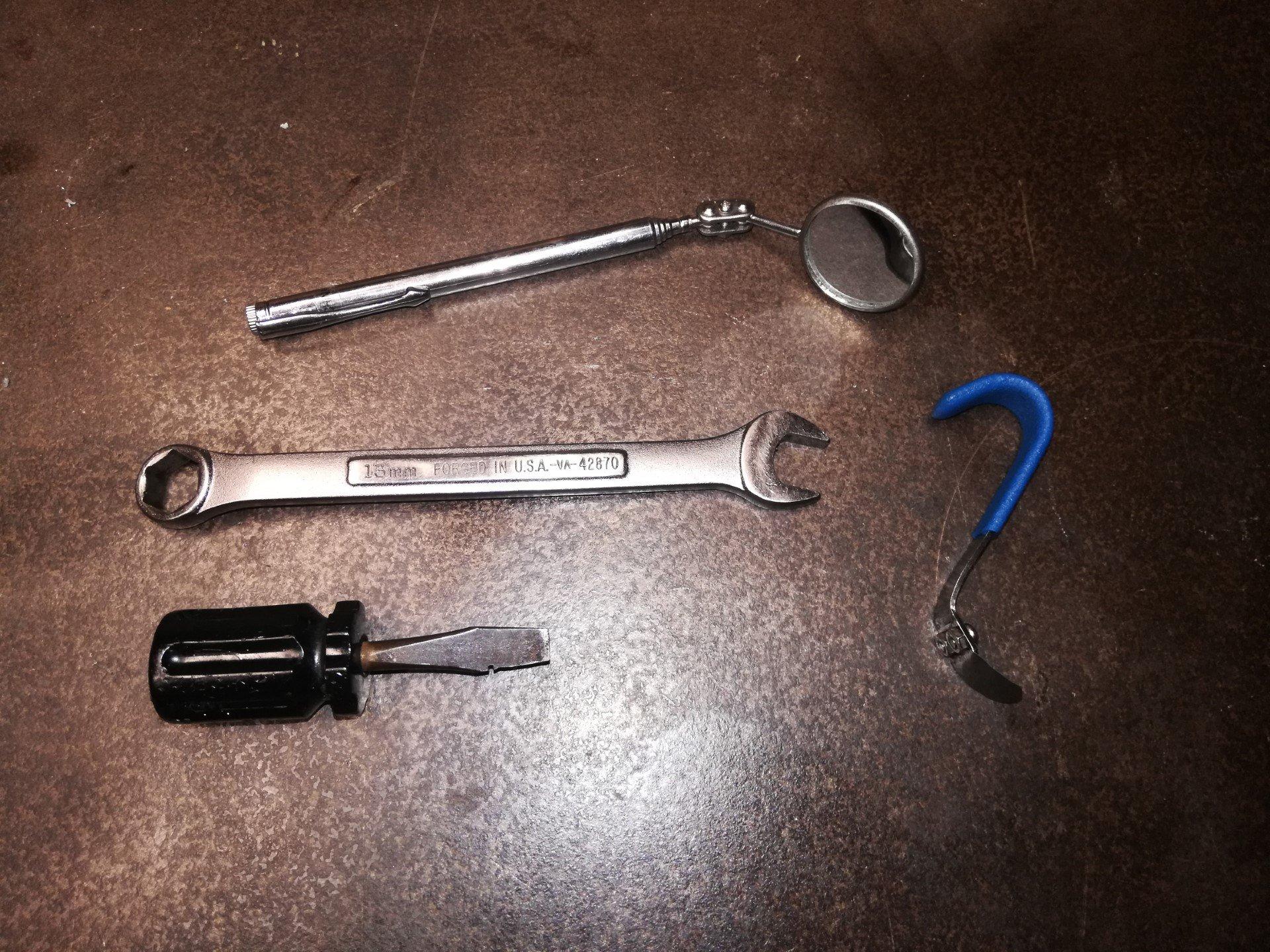 Air-cooled Porsche 911 valve adjustment tools