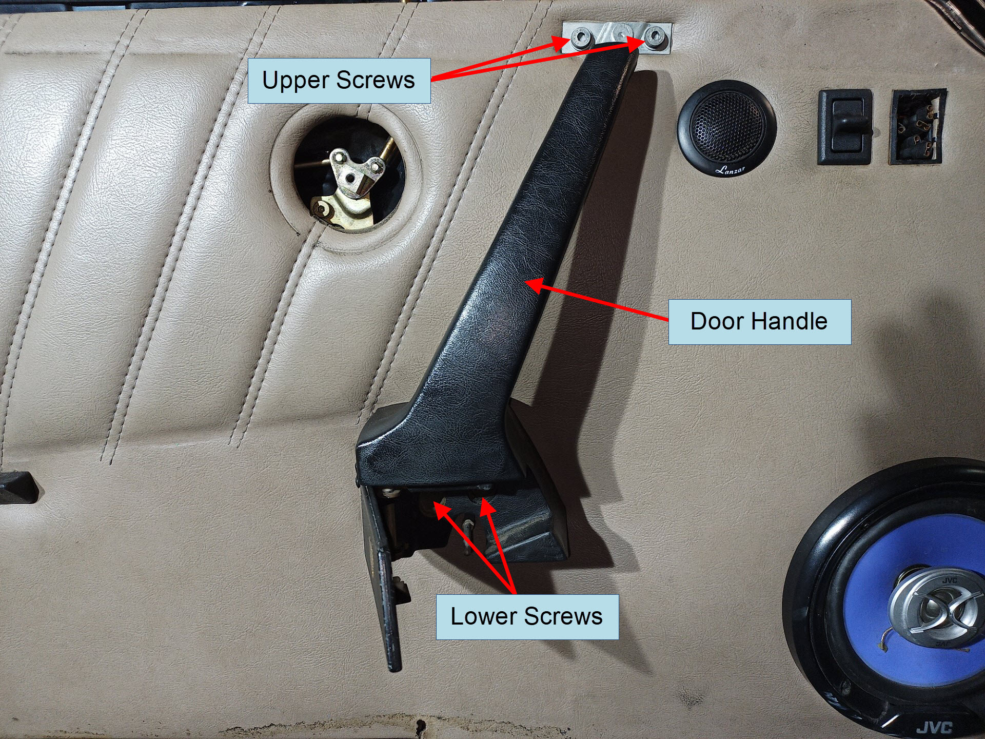 air-cooled porsche 911 release handle removal