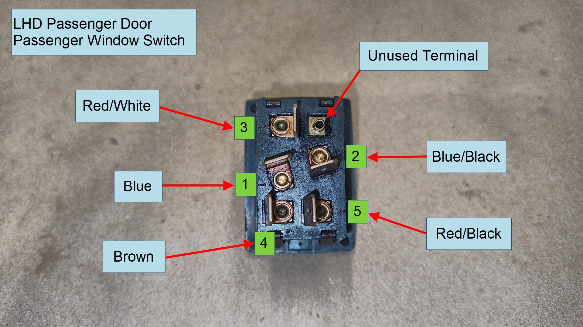 air-cooled porsche 911 window switches wiring