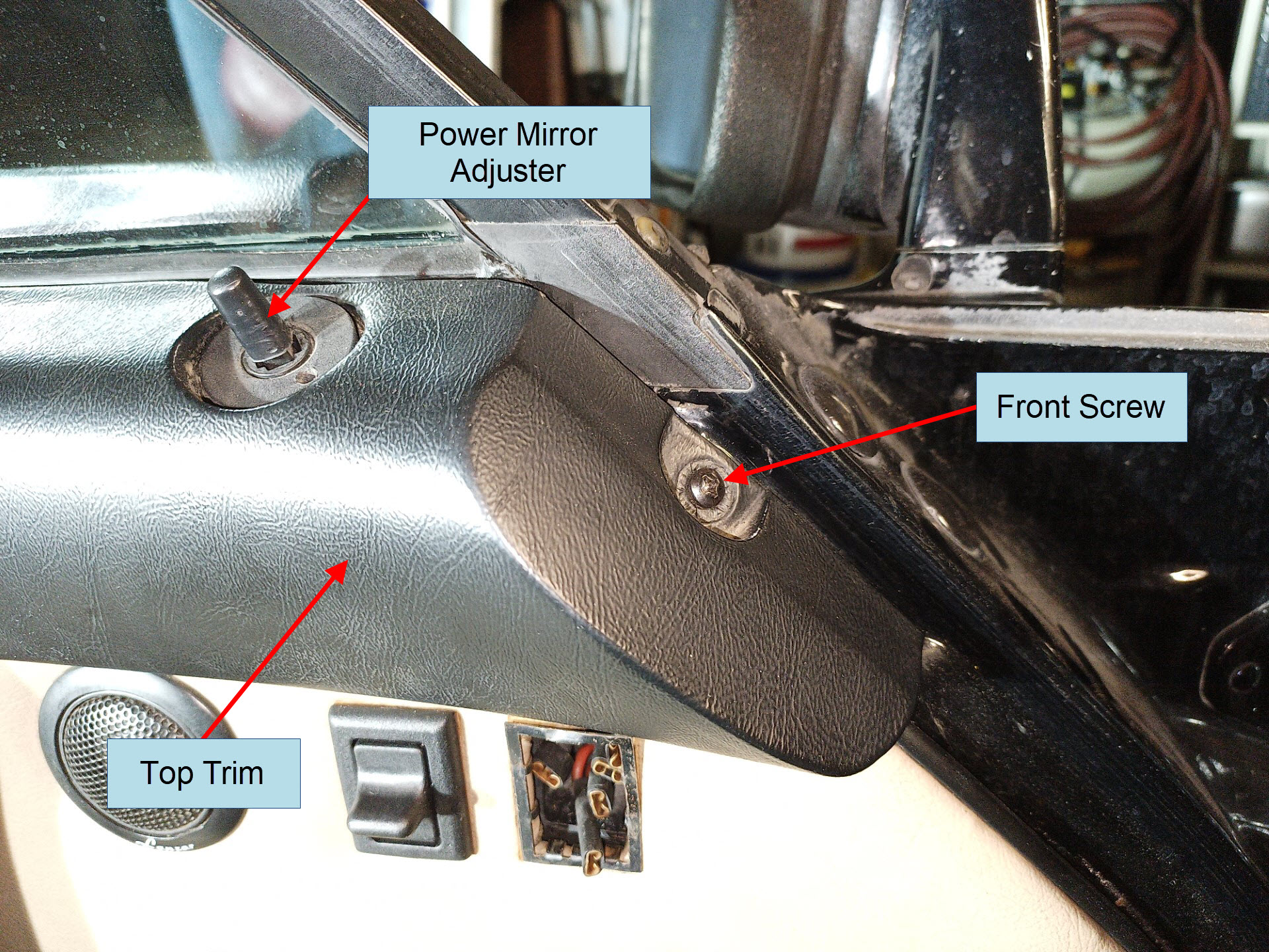 air-cooled porsche 911 door card top trim removal