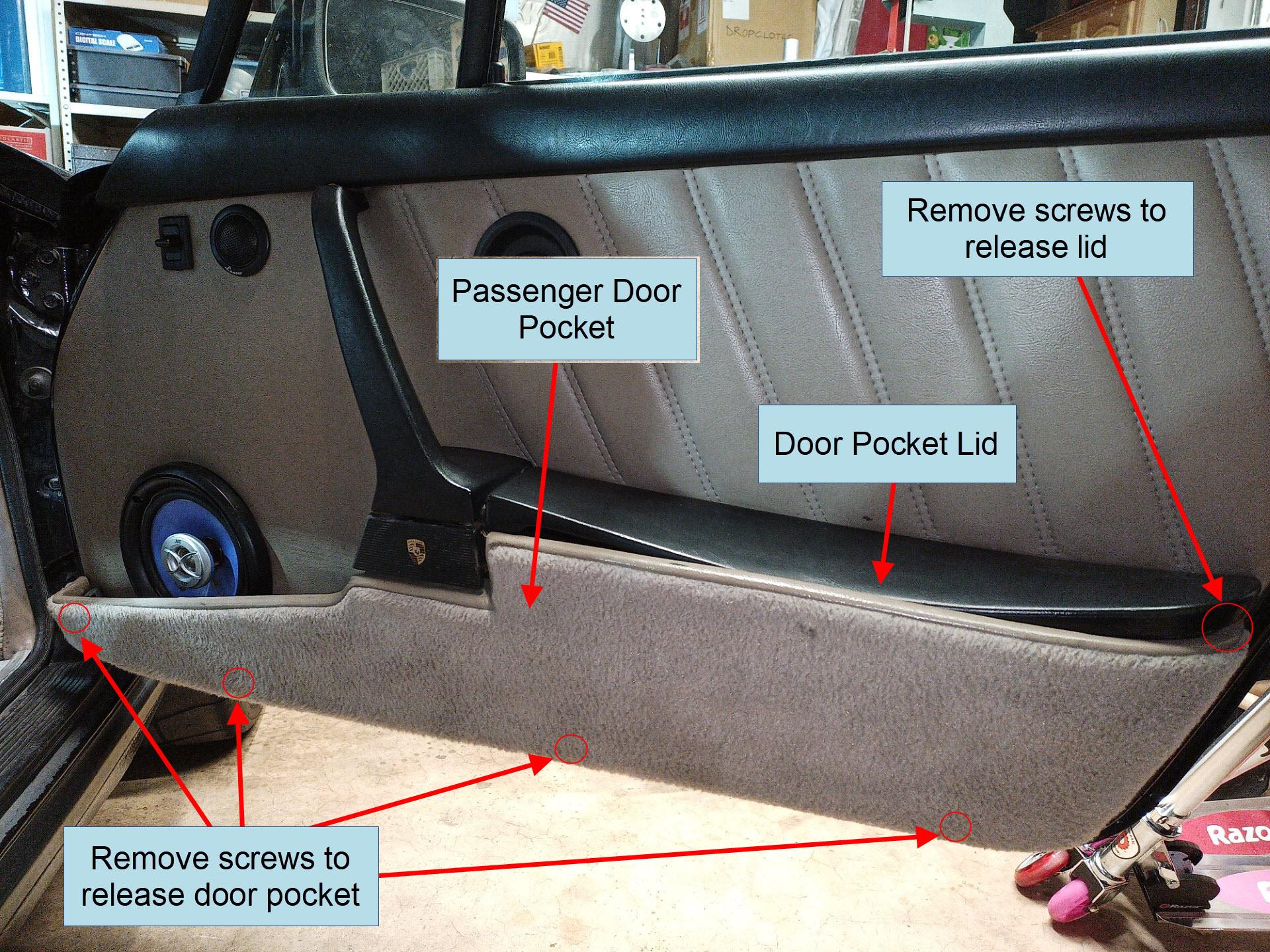 air-cooled porsche 911 door pocket removal