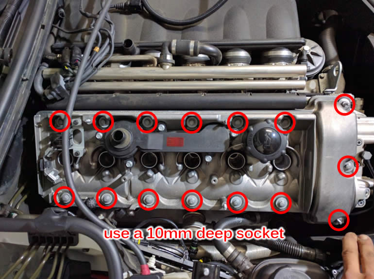 How To Replace S54 Valve Cover Gaskets