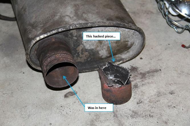 Rear muffler removal