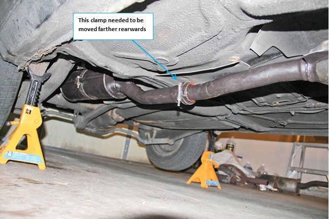 Exhaust clamp location