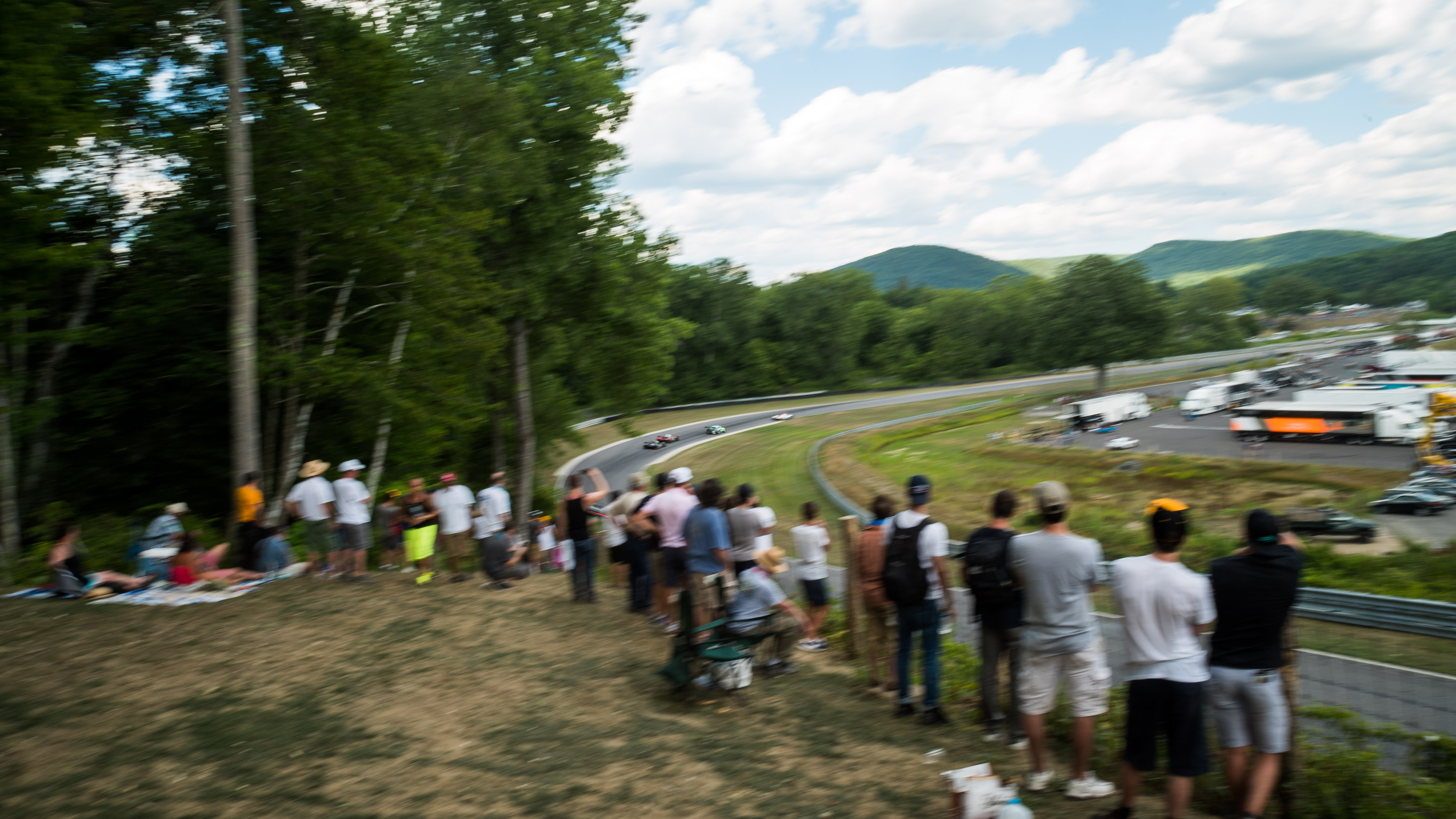 Lime Rock Park Downhill - Spectator View