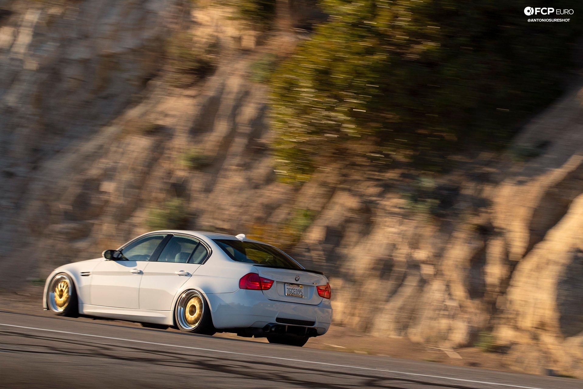 BMW E90 M3 Sedan Slicktop BBS E88 KW Suspension Rear Quarter