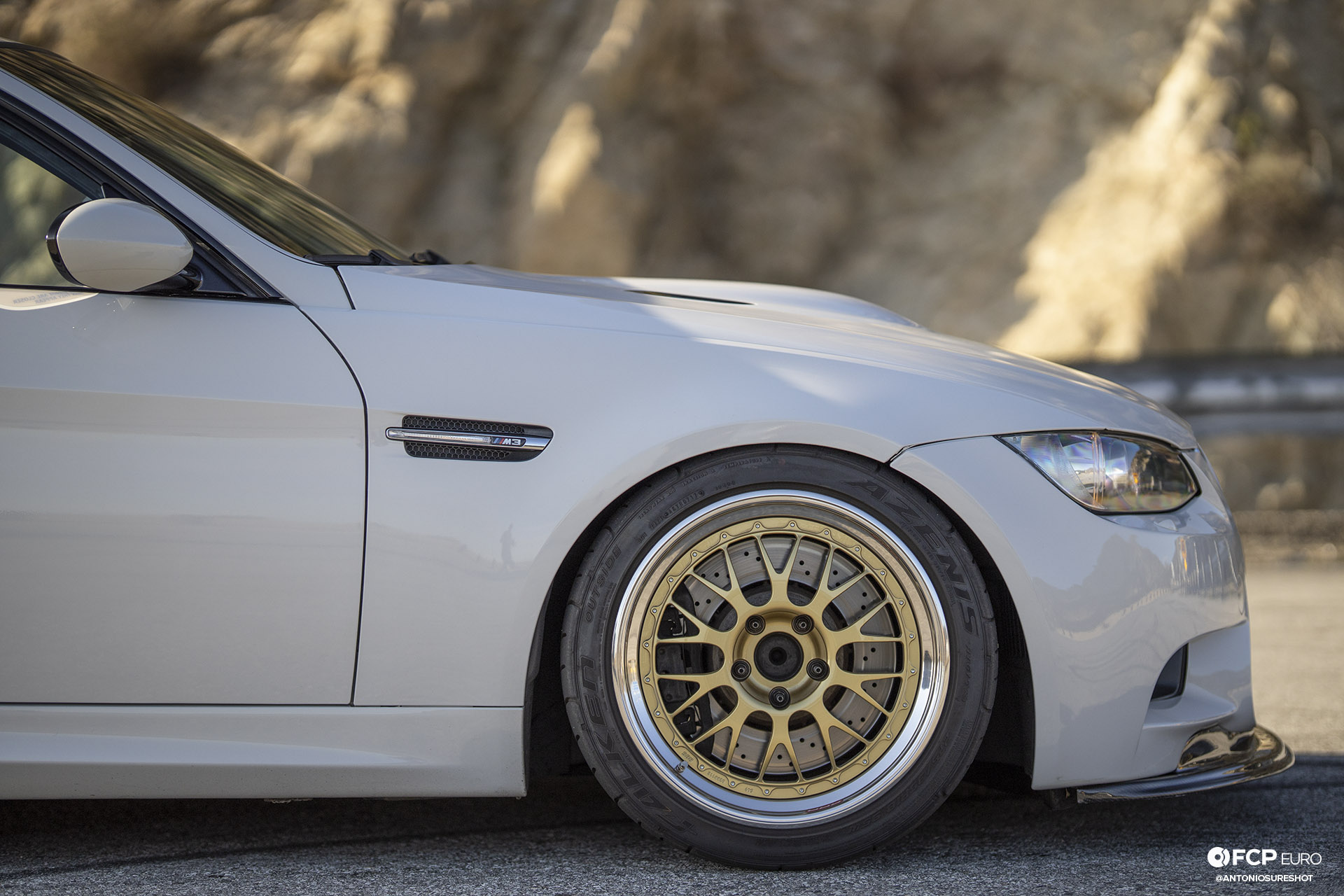 BMW E90 M3 Sedan Slicktop BBS E88 KW Suspension BBS Wheels