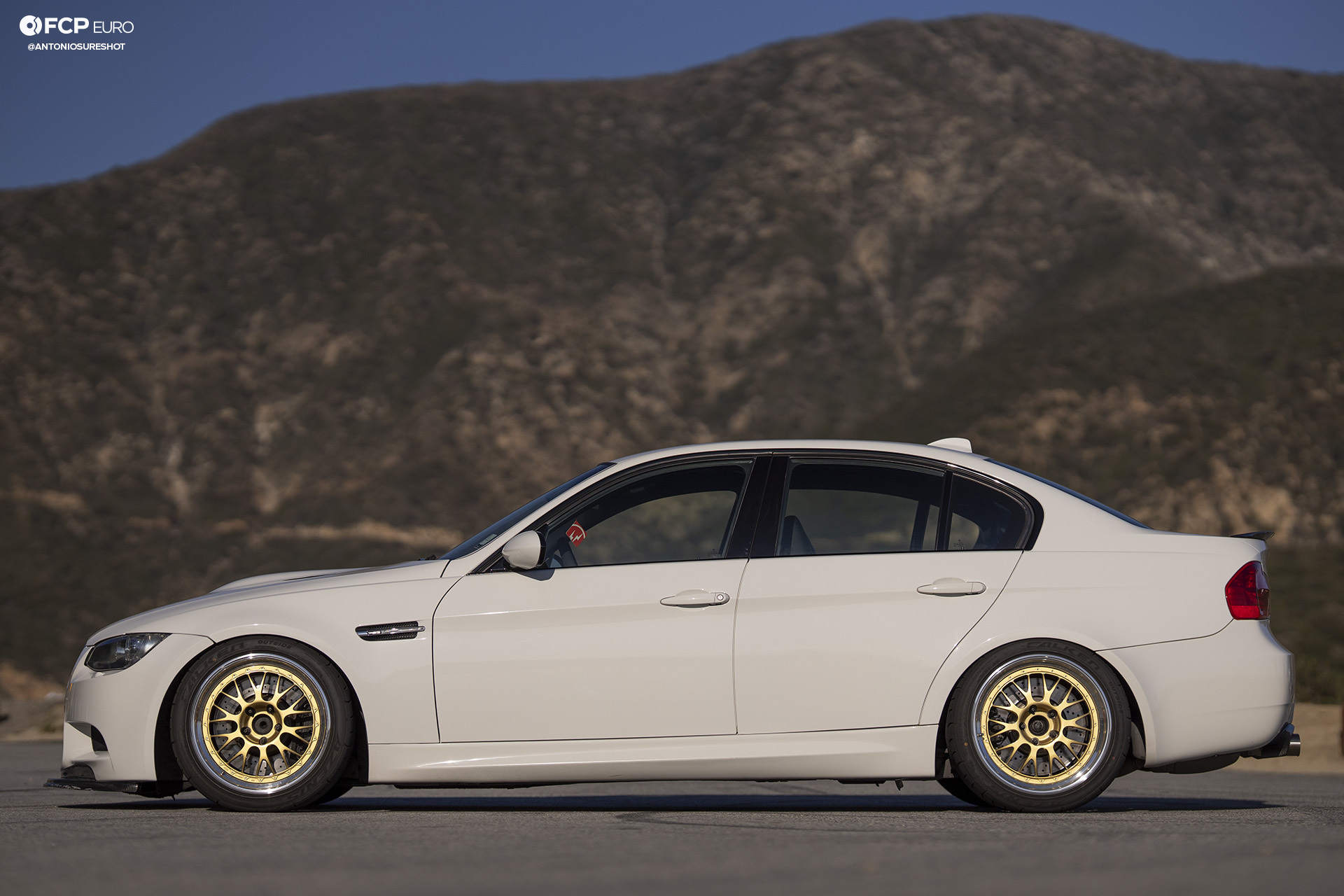 BMW E90 M3 Sedan Slicktop BBS E88 KW Suspension Side Profile