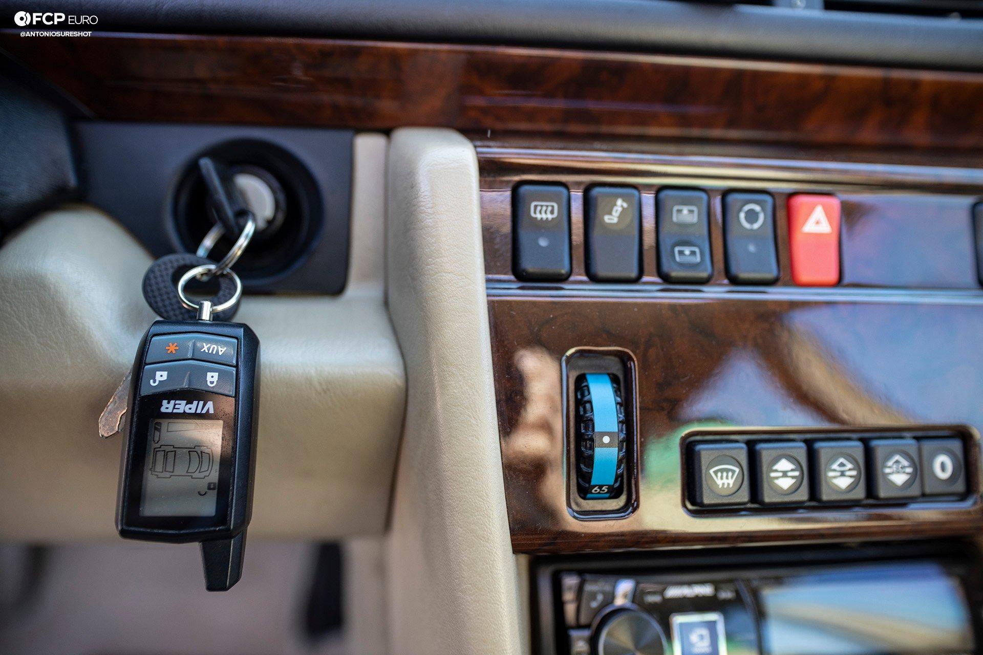 Mercedes Benz Porsche Carlsson 500E Viper alarm EOSR7923
