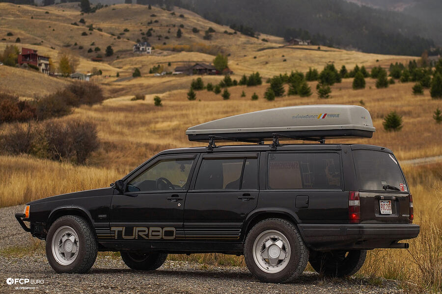 Swedish Metal Overlanding Volvo 940 Turbo Wagon Rear Quarter Shot