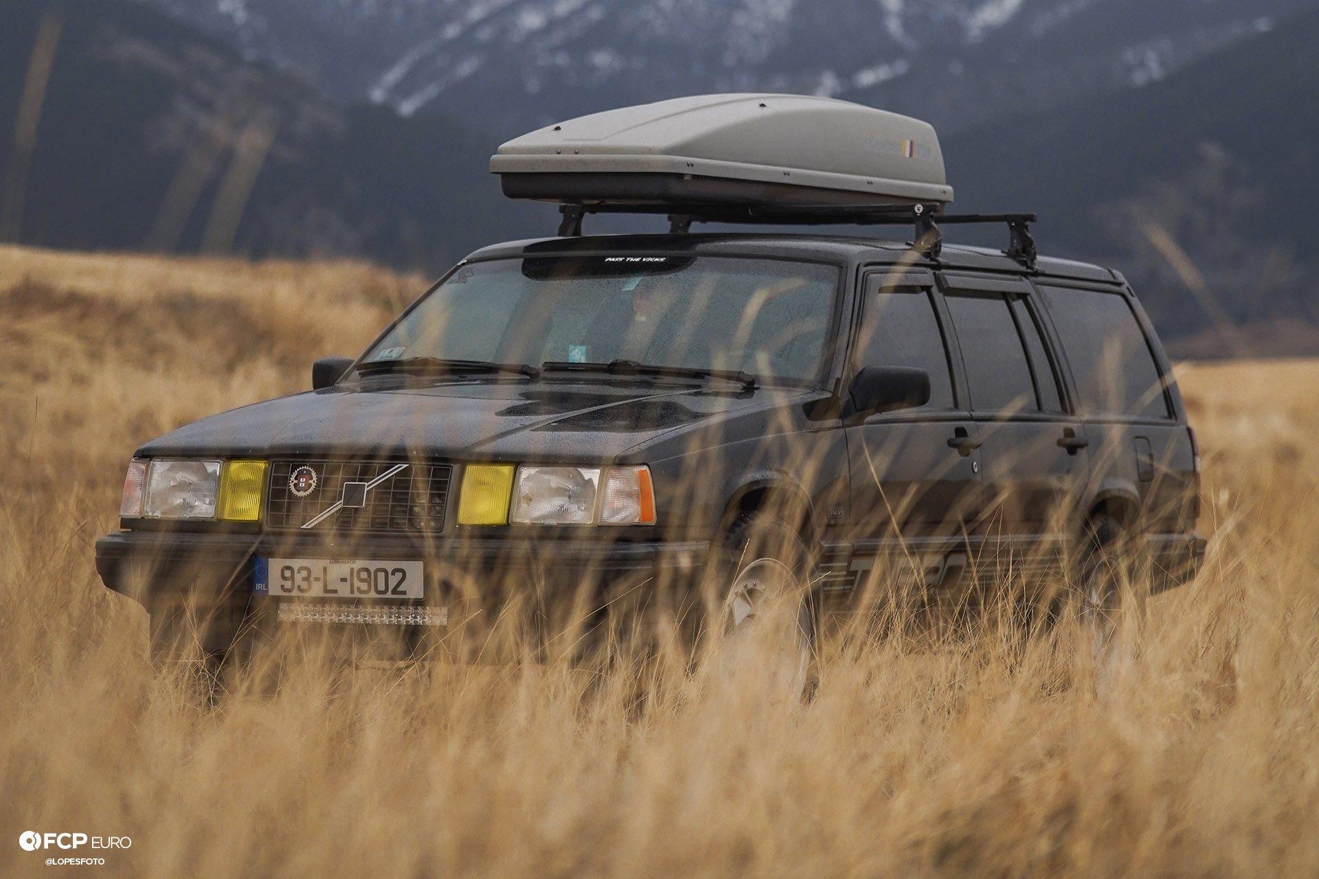 Swedish Metal Overlanding Volvo 940 Turbo Wagon Front Three Quarter