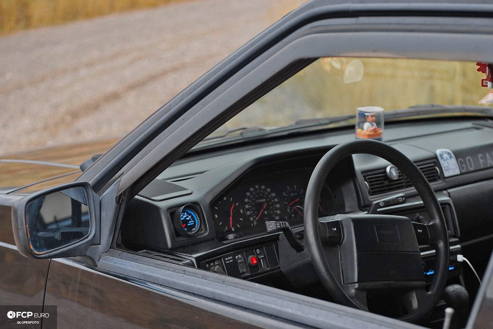 Swedish Metal Overlanding Volvo 940 Turbo Wagon Interior Gauges
