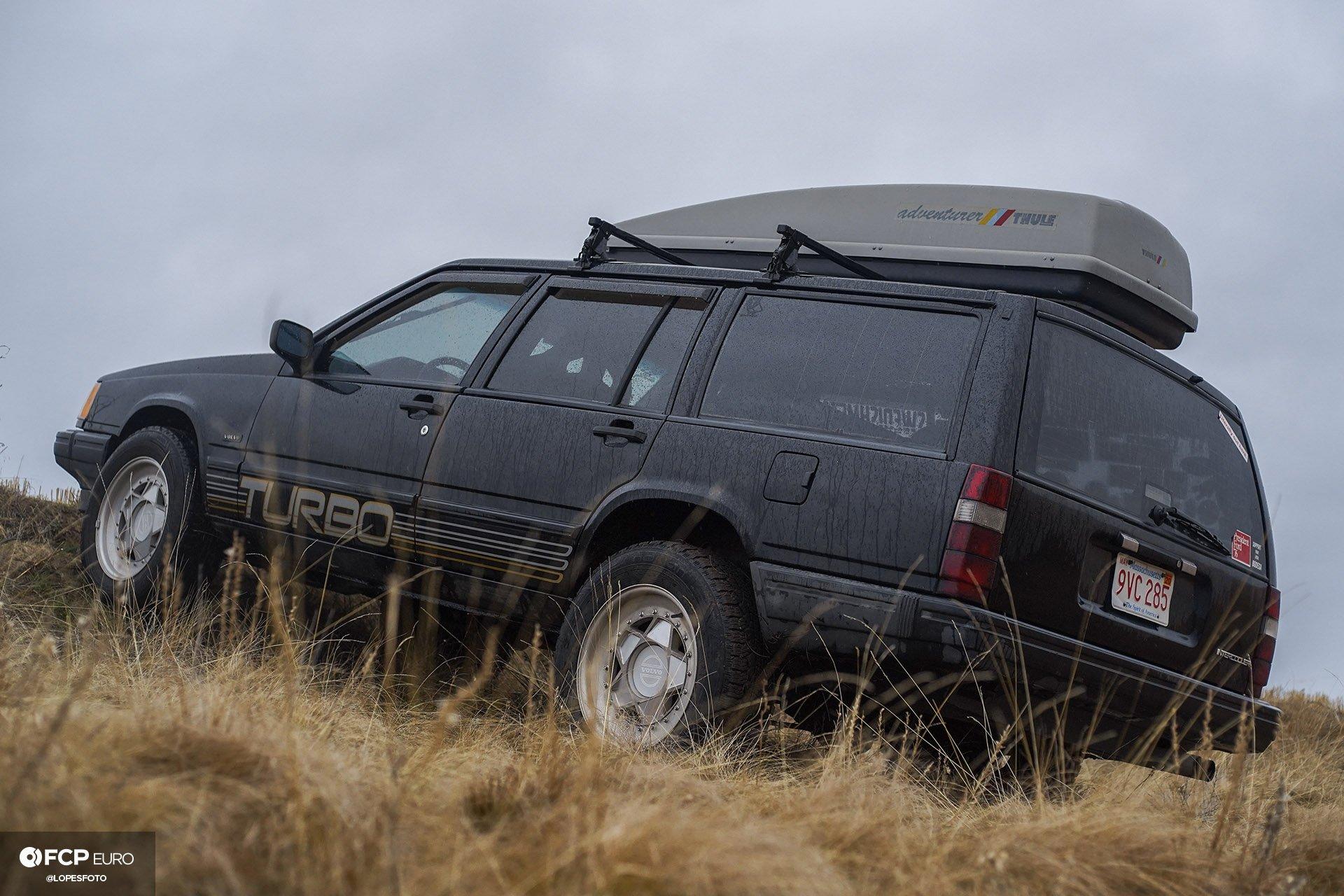 Swedish Metal Overlanding Volvo 940 Turbo Wagon Rear Three Quarter