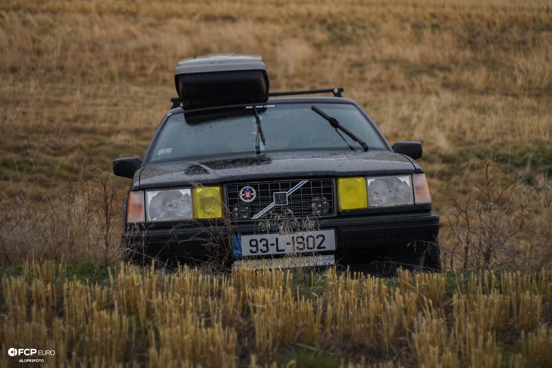 Swedish Metal Overlanding Volvo 940 Turbo Wagon Front End Climbing