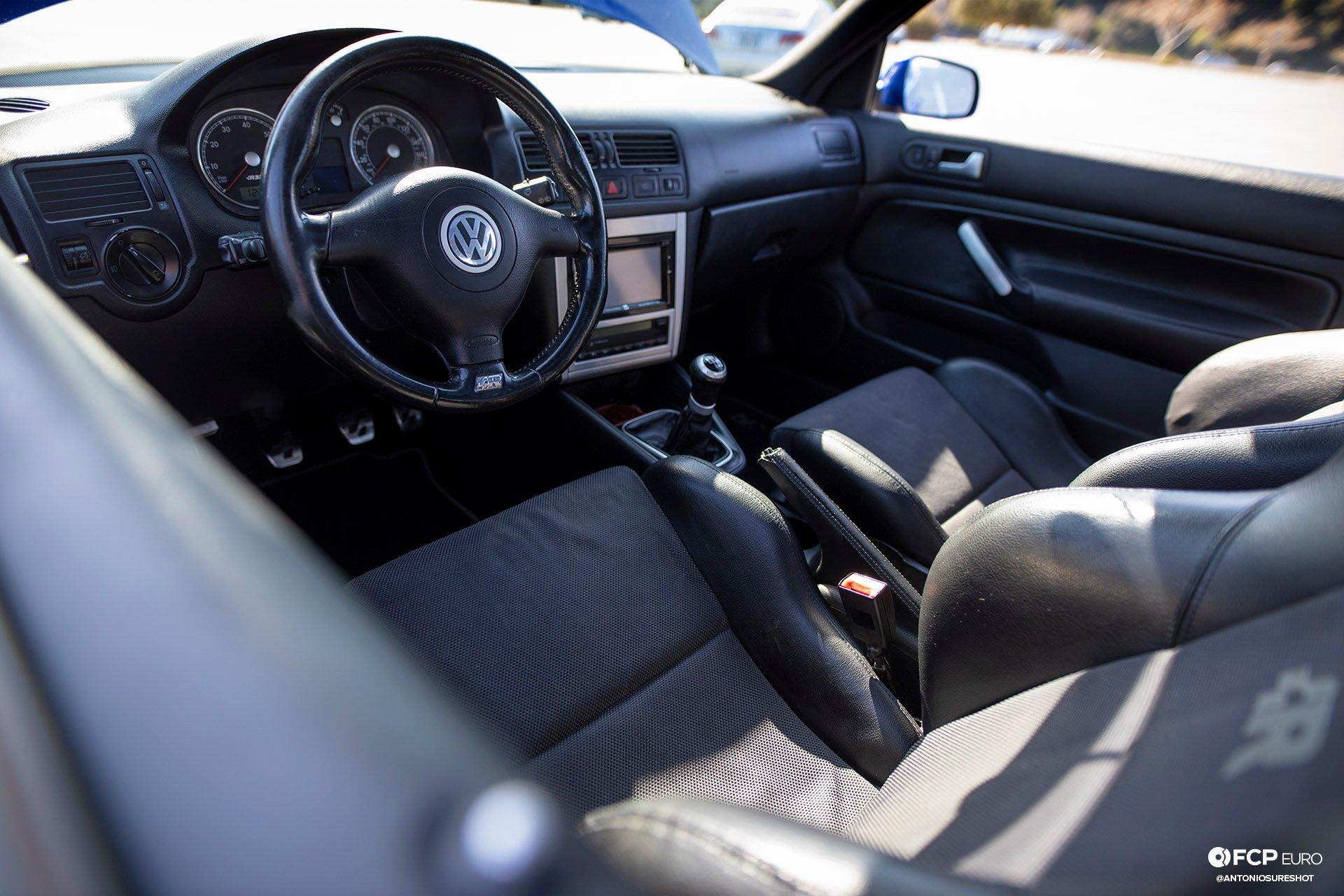 MK4 Volkswagen Golf R32 Deep Blue Pearl Air Ride Interior