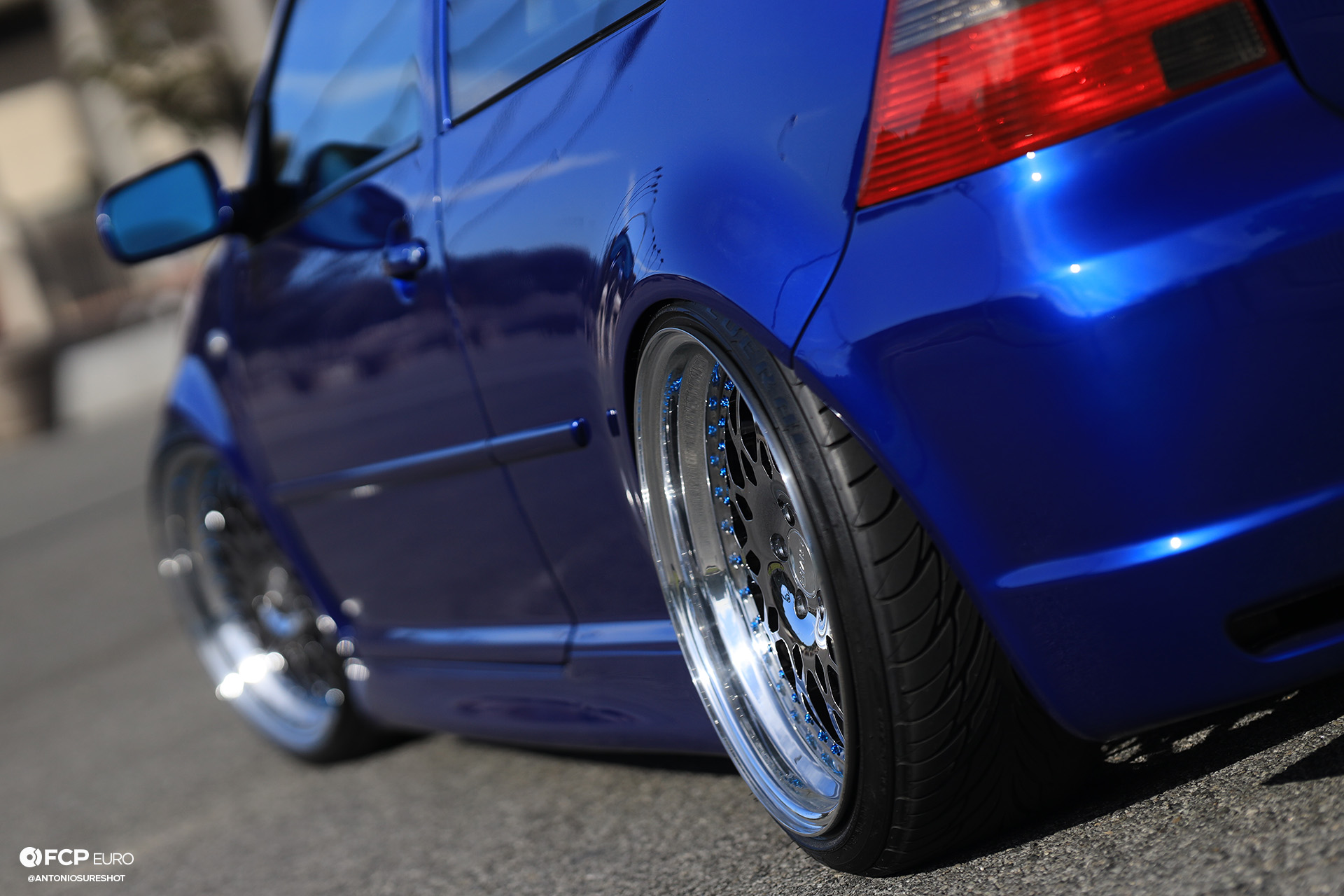 MK4 Volkswagen Golf R32 Deep Blue Pearl Air Ride Wheels