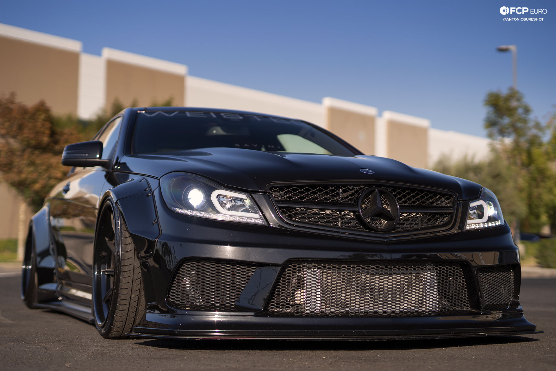 Weistec Supercharged Mercedes-AMG C63 Liberty Walk Aired Out