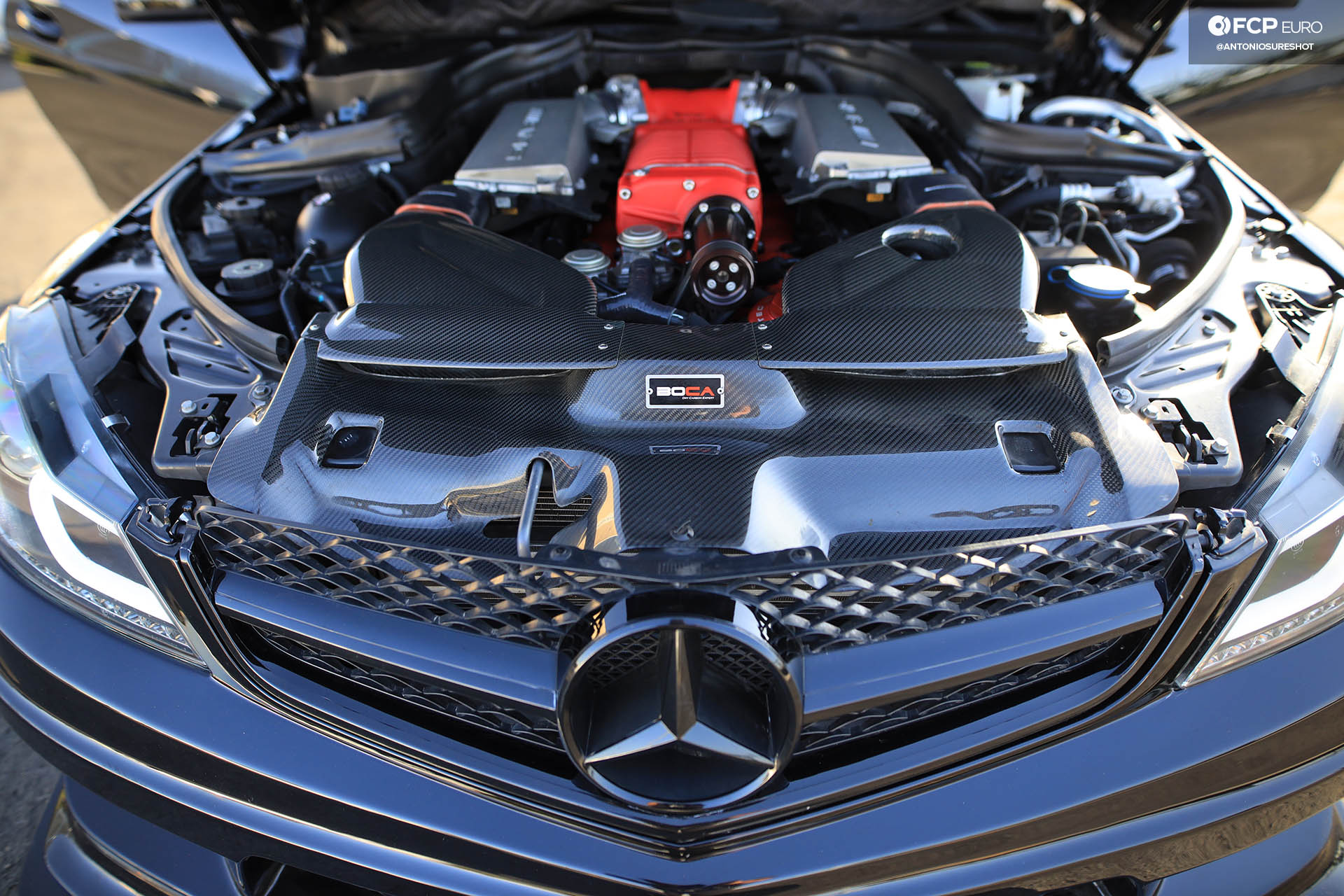Weistec Supercharged Mercedes-AMG C63 Liberty Walk Engine Bay Supercharger