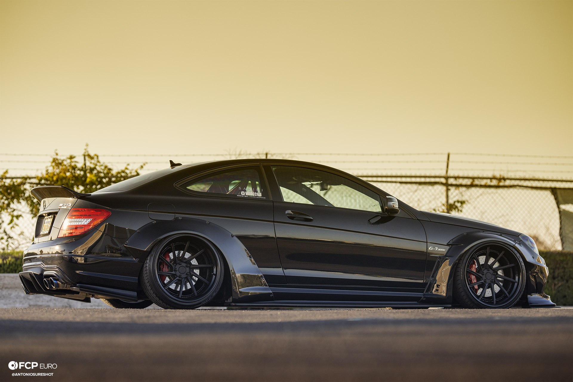 Weistec Supercharged Mercedes-AMG C63 Liberty Walk Side Profile