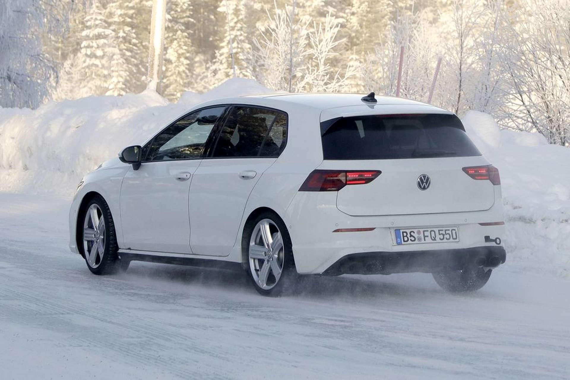 Volkswagen MK8 Golf R Spy Shots Testing Rear End
