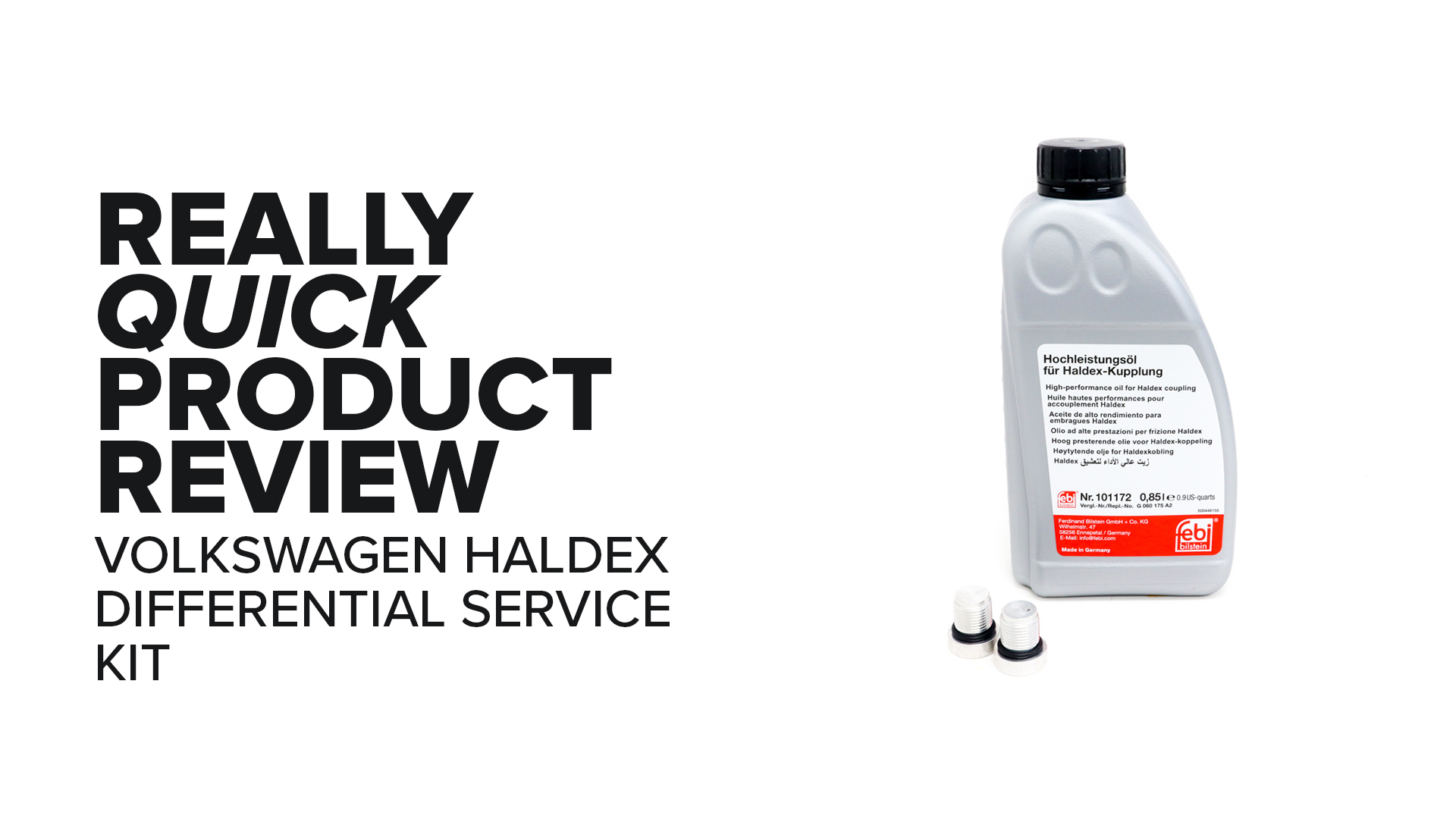 MK7 Volkswagen GTI VAQ Haldex Differential Service Kit - Symptoms And Product Review