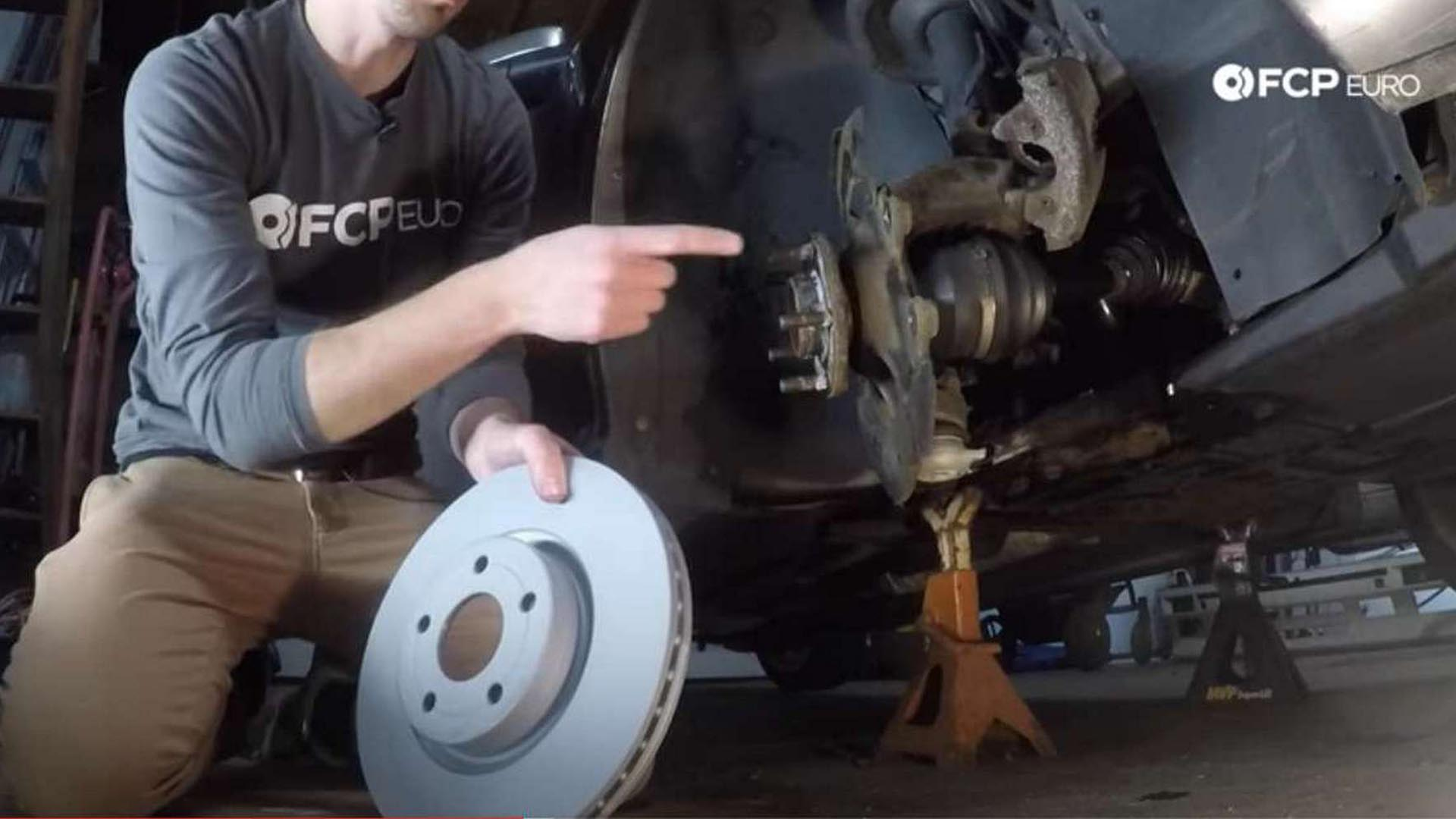 How To Replace The Front Brake Pads And Rotors On A Volvo P1 (S40, V50, C70, & C30)