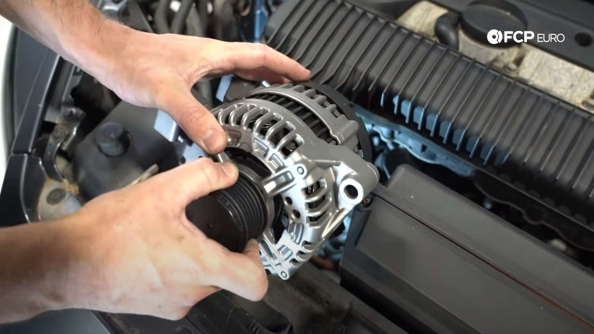 How To Replace The Alternator and Serpentine Belt On A Volvo C30 (Volvo P1)