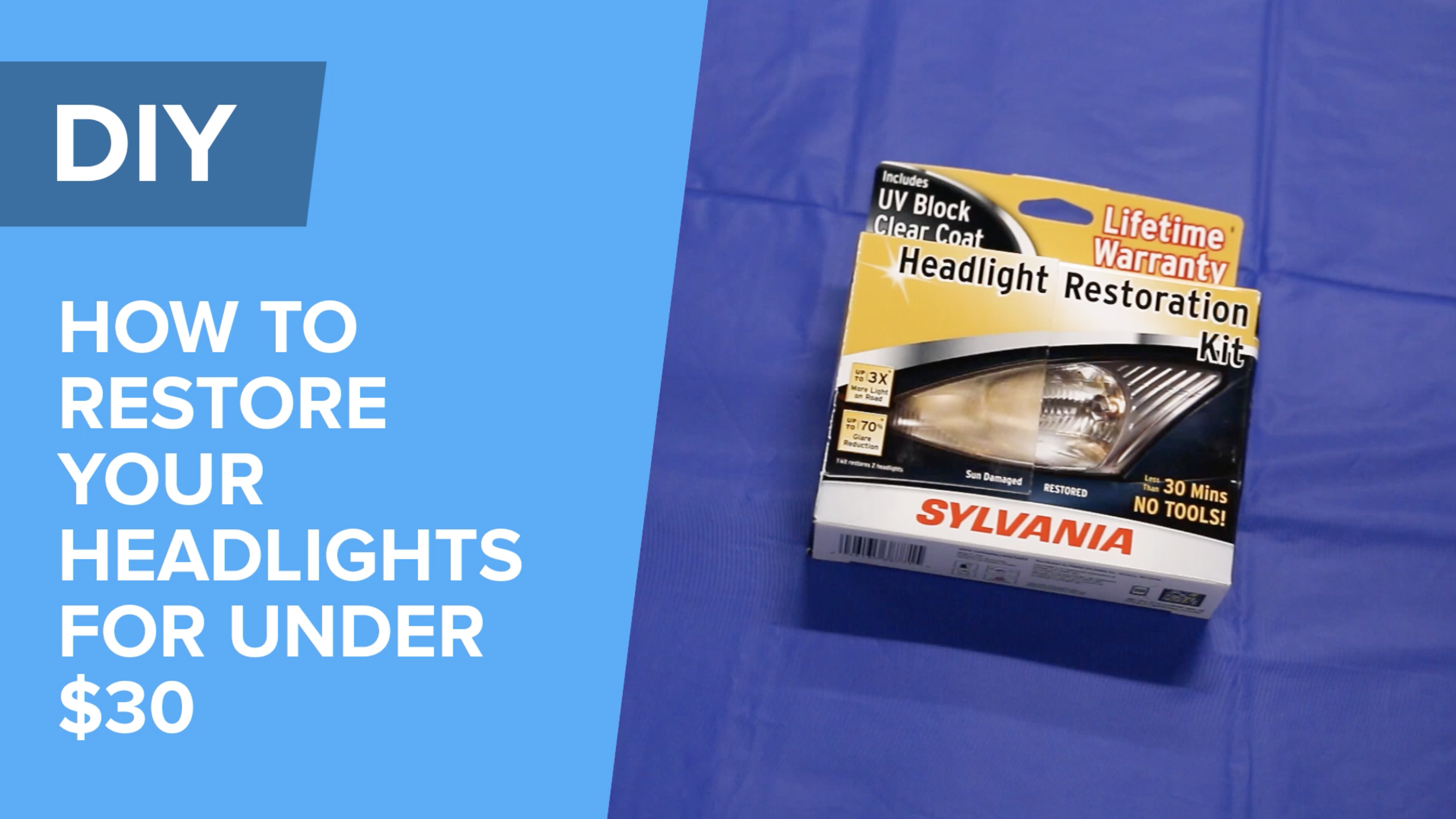 How To Restore Your Headlights For Under $30