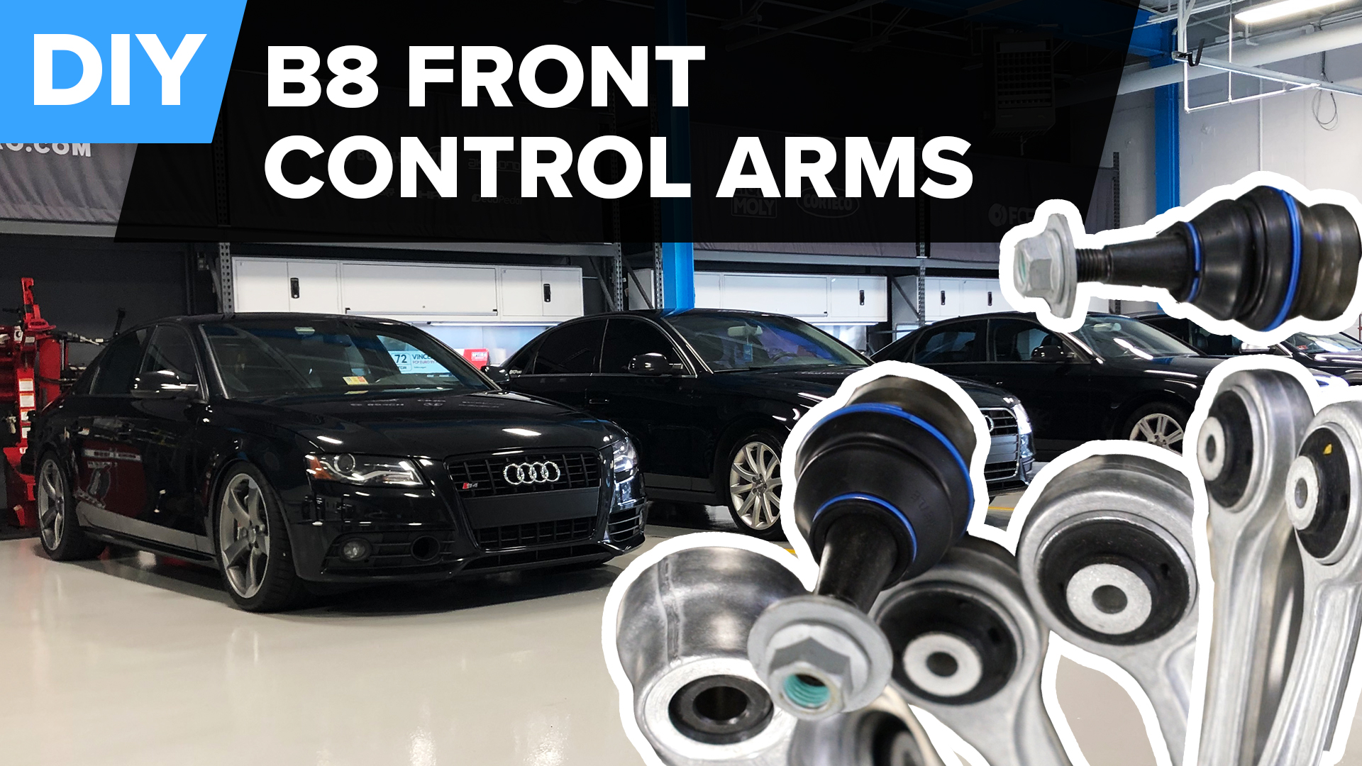 How To Replace Audi B8 A4 Front Control Arms (A5 & Q5)