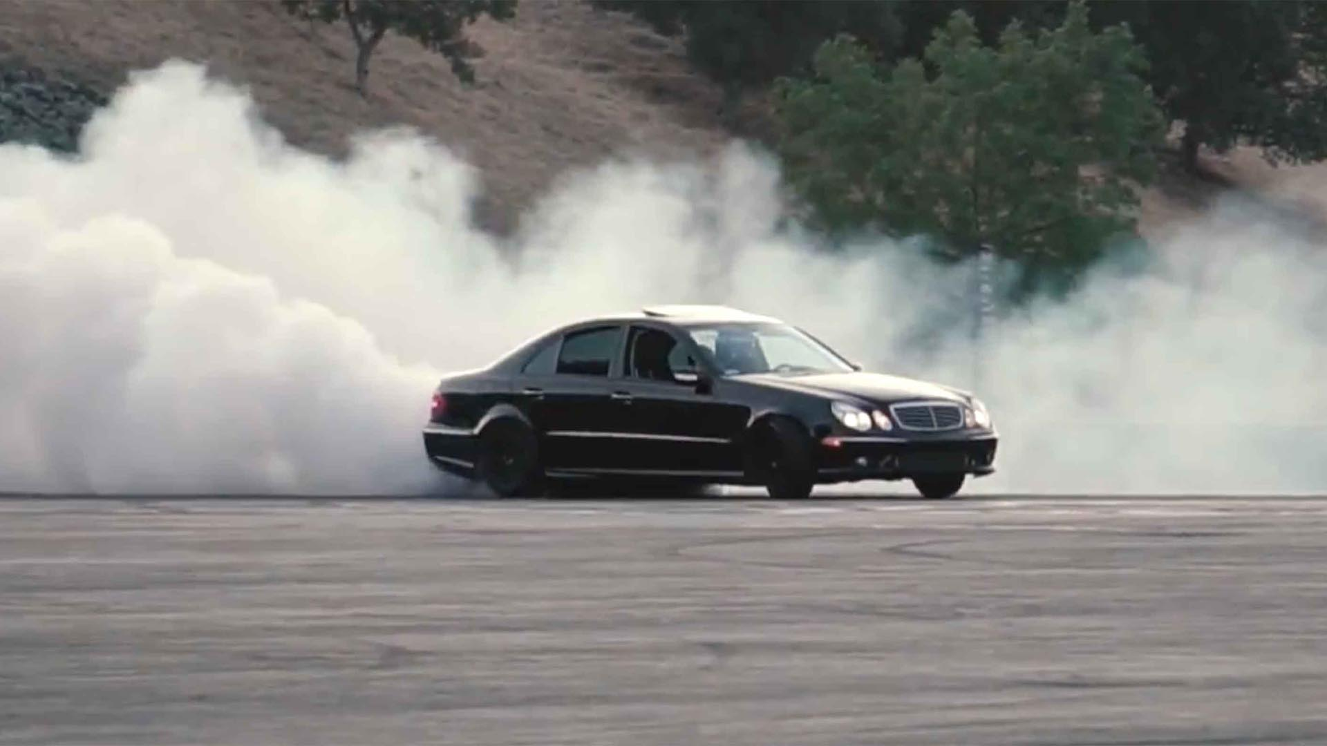 Watching A Mercedes-Benz E55 AMG Shred Tires Is The Best Thing You'll Do Today
