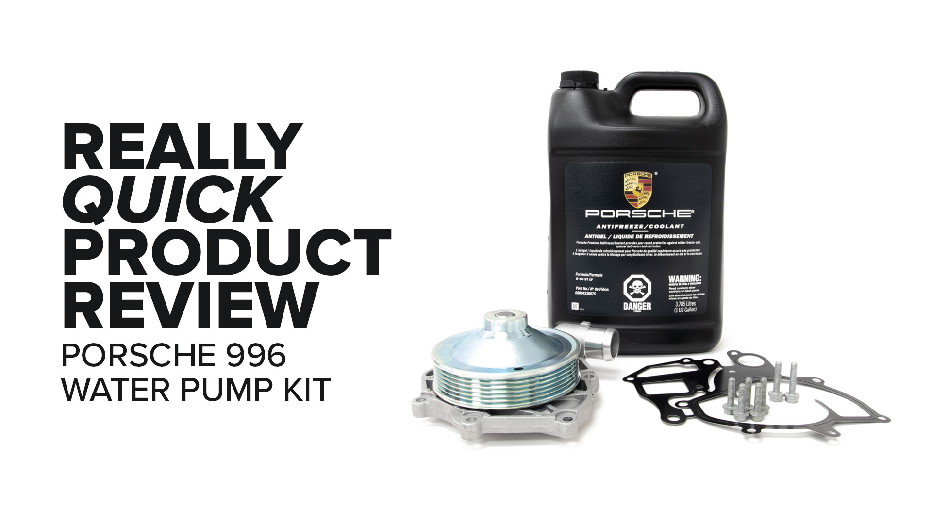Porsche 996 911 Metal Impeller Water Pump Kit - Symptoms And Product Review